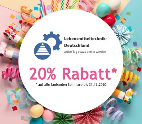 5 Jahre LBMTD - 20% Rabatt auf alle Seminare bis Ende 2020