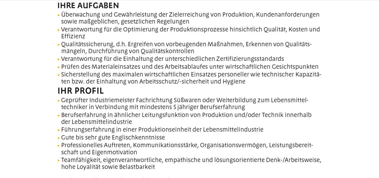 Fuchs & Hoffmann Betriebsleiter