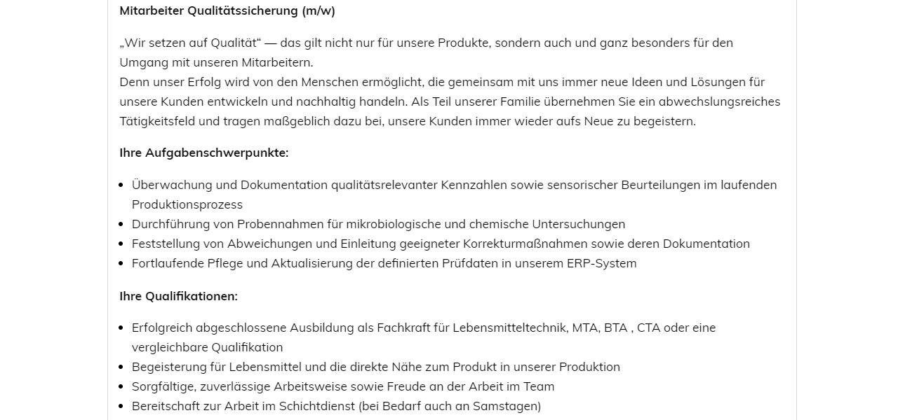 Kühlmann Mitarbeiter Qualitätssicherung
