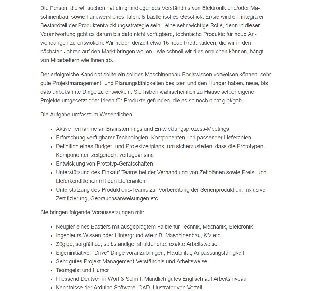 KREA Swiss Produktentwickler Technischer Projekt Manager
