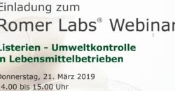 Romer Labs Webinar Listerien