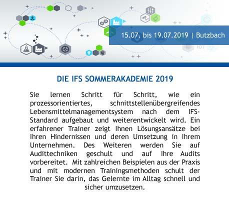 IFS Sommerakademie 2019