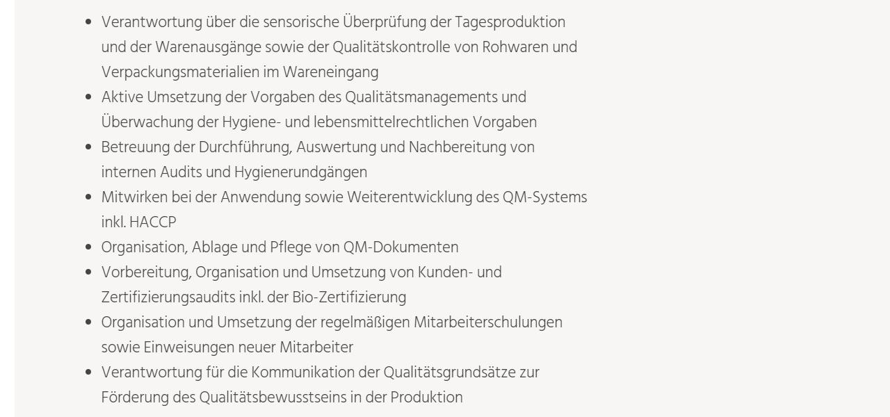 Thüringer Kräuterhof Gera Mitarbeiter Qualitätssicherung